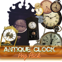 Antique Clock Png Pack 01 by MelikeSeymaTuna