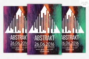 ABSTRACT MINIMAL Flyer Template by WGVISUALARTS
