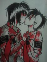 Frerard kisses by BurgandyRoses
