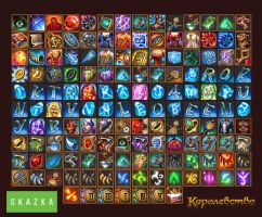 Icons for mmo 'the Kingdome' by Gimaldinov