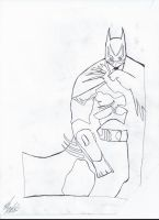 Batman Ink Outline by zombis-cannibal