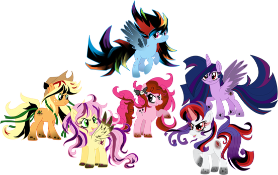 Twisted Rainbow Ponehs by schnuffitrunks