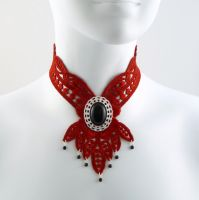 Victorian Jabot Necklace by Lincey