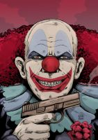 crazy killer clown by xilrion