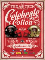 Texas Tech Celebrate Cotton Poster by Satansgoalie
