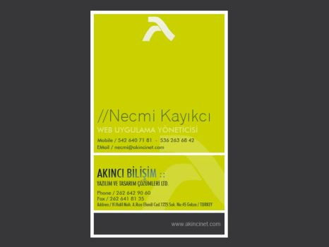 Business Card Vertical by necmikayikci
