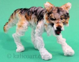 Pipe Cleaner Wolf by kalicothekat