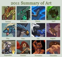 2011 Art Summary by Shadow-Wolf