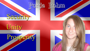 Portia Rohm for UK Prime Minister Wallpaper by JanetAteHer
