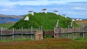 L'Anse aux Meadows, recreated long house by Massari619