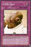 It's A Trap YGO card by AUTODECEPTITRON