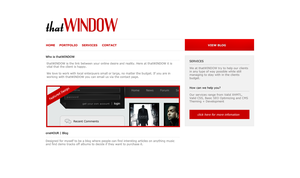 thatWINDOW Simple RED by slowduck