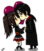 Itachi and Hitomi love by DannyC8