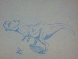 T-Rex dump sketch by Koala-Sam