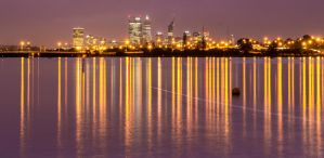 Perth skyline at dawn by EvilPurpleChicken