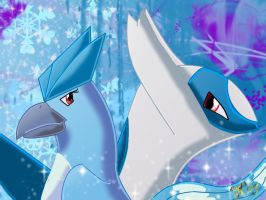 Articuno and Latios by Joana-the-Raichu