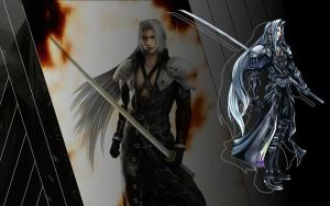 FF: Sephiroth Wallpaper_A by marcosdelira