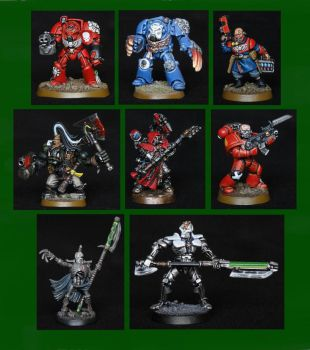 Some 40K Miniatures by YiorYeosa