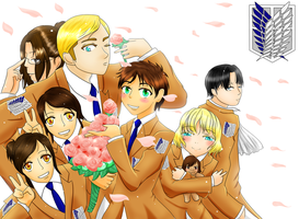 Attack on Host Club-Crossover by FairyKeiStar