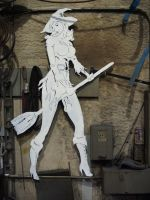 Steel Witch  4 ft tall by BROKENHILL