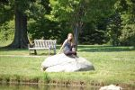 PS 1 Girl Sitting on Rock 1 by cornstock