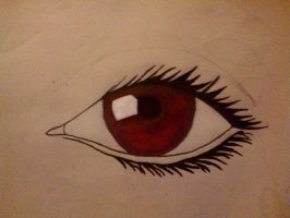 Red Eye Drawing by Michael-Driver