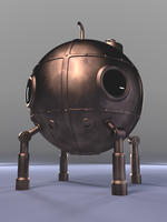 3D Model: Steampunk Bathysphere by ark4n