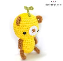 leafy yellow brown bear plush 2 by adorablykawaii