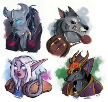 [commission] wow busts 1 by SirMeo