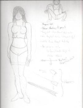 Costume Sketch - L4D Witch by Twiganut