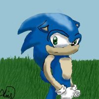 Sonic by rainbow-narwal