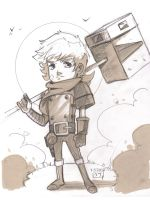 Bastion - The Kid - Sketch by MichaelCrichlow