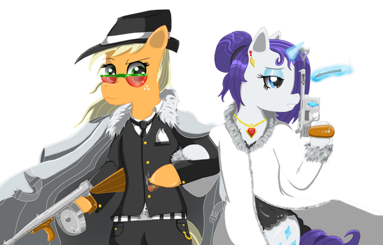 Applejack and Rarity mafia theme by Xaidon