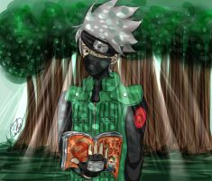 Kakashi in the forest by CathyDei