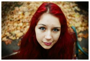 Red-hair autumn by tedo92