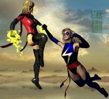 A Battle of Ms Marvels by Mr-Hypnotyk