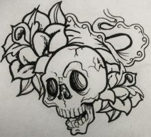 Old Skool Skull by 8PoppyPaws