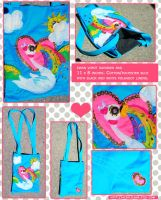 Swan Vomit Rainbow Bag by tedsie