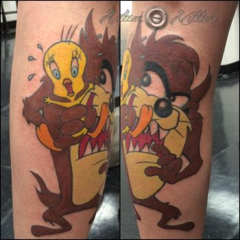 Taz and Tweety by adammdesigns