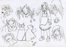 :Margaret chara sheet lineart: by Shinigami-chan02