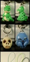 Cell phone charms of DOOM by CatharsisJB