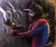 The Amazing Fire-Spidey ~ by Soujirou1994