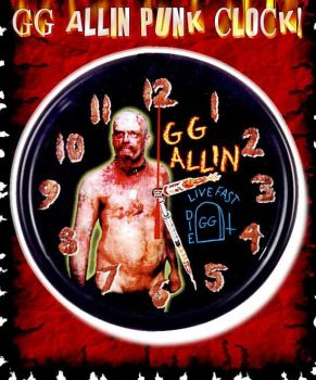 GG Allin SHt Clock! by ADGoresFreakFactory