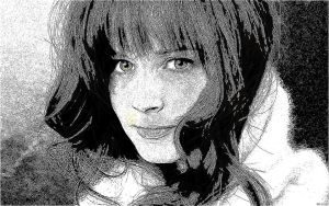 Alexis Bledel Pencil Drawing by dasColli