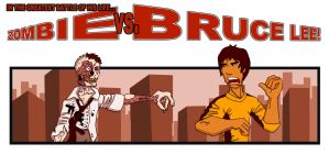 Zombie vs. Bruce Lee by into-blue