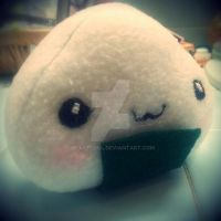 Onigiri (rice ball) Plush V2 by BeastSoul