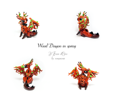 Wood dragon in spring by rosepeonie