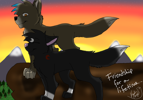 Wolf friends by KadoAngel13