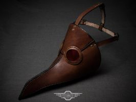 Brown Albino plague doctor mask by LahmatTea
