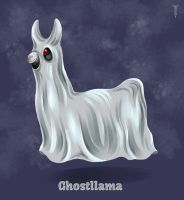 Daily Llama Project - Ghostllama by TrollGirl